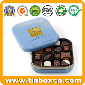 La Caja de Regalo de metales estaño de Chocolate Caja con asa para el almuerzo