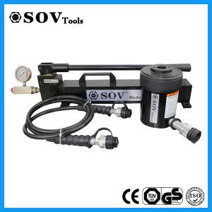 30t êmbolo oco de Ação Única do cilindro do pistão hidráulico