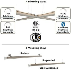 Indicatore luminoso lineare controllabile di Bluetooth LED per i progetti dell'interno commerciali con Dlc & ETL