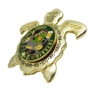 Neue Entwurfs-Form-Zubehör-Schildkröten-Form-Goldmetallmünze (023)