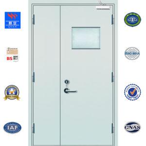 Rincer d'urgence à l'extérieur de haute qualité de porte en acier au feu pour l'hôpital (FS-YL-006)