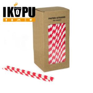 Одноразовые красочные питьевой бумаги трубочки для группы