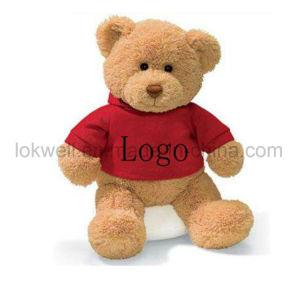 Assis en peluche doux animal en peluche ours en peluche avec T-Shirt Rouge Les enfants Les enfants de jouets pour bébés
