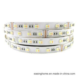 La luz de la cuerda 5050SMD 120 grados Ángulo de luz RGB+W+Ww (RGB+AAC) de 60 LEDs/m de altura Brighness TIRA DE LEDS PARA LED luces de neón Flexible Flex