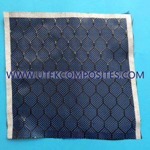 Carbone bleu tissu jacquard en fibre de carbone