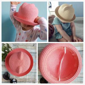 男の子および女の子の帽子のための方法耳の麦わら帽子の赤ん坊の帽子