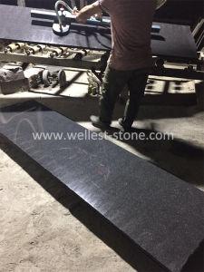 ダイヤモンドのタイルによって磨かれる終わりを舗装する床および壁のための黒い花こう岩のタイル