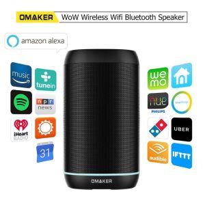 OmakerのワウのアマゾンAlexa声制御在庫の無線Multiroom WiFiの携帯用スピーカーが付いているハンズフリーのBluetooth WiFi Aiの知性のスマートなスピーカー