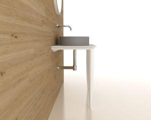 Badezimmer-Eitelkeiten mit den Tisch- für Systemkonsoleund Untersatz-Beinen kombiniert im Weiß