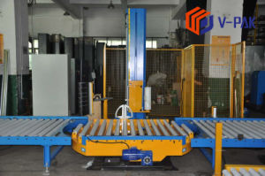Полностью автоматический тип конвейера Pre-Stretch упаковку/Wrap машины в режиме онлайн (V-PAK)