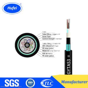 Fita de aço isolados de gelatina Armored GYTA53 de cabo de fibra óptica