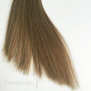 8# complet de la tête de la soie Clip droites brésilien de Remy Cheveux humains