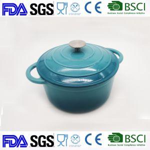 Casserole en fonte 2.7L Dia : 22cm BSCI LFGB approuvée par la FDA