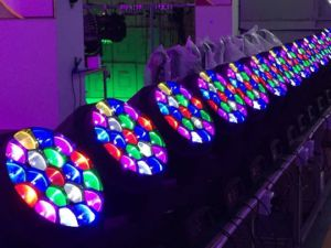 大きいK10蜂の目19X15W LED DMX 4in1 DJ移動ヘッドライト