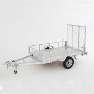 Galvanizado en caliente 5 X 8 ATV Remolque con placa de comprobador de piso y la rampa de malla