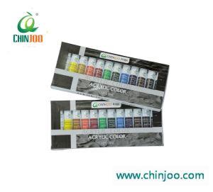 12ml tubes de peinture acrylique couleur, le professionnel de l'acrylique couleur pour l'artiste et les étudiants