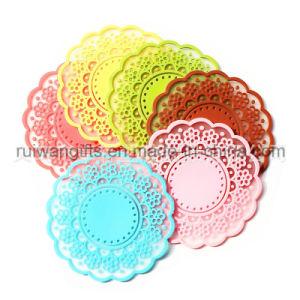 Spitze Flower Anti-Slip Silicone Platz Mat in Different Colors