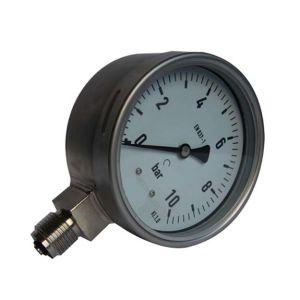 4-дюймовый-100мм изготовлены из нержавеющей стали в нижней части тип резьбы манометр давления