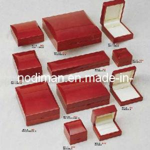 Piel sintética de lujo Joyas de Papel Caja de madera (SH-51)