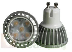 Hohe Leistung LED-GU10 5X1w Spotlight 100-240V Silver Aluminum