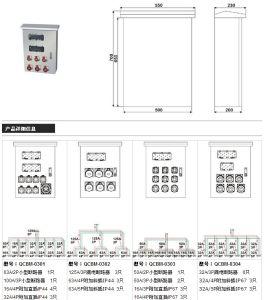 IEC 표준 Staninless 강철 힘 조합 소켓 상자 (QCBM-02)