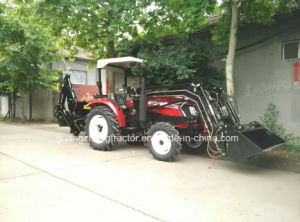 Front LoaderかBackhoe/TrailerのセリウムCertificate Fitが付いている35-45HP 4WDの庭Tractor