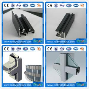 Rocky sofisticada tecnología de Perfil de extrusión de aluminio para la Decoración de pared de cortina