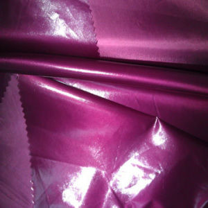 Repelente al agua de poliéster de sarga tejido revestido de tafetán para chaqueta
