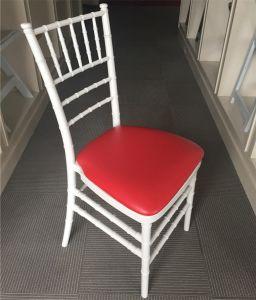 Red Cushion를 가진 백색 Resin Stacking Tiffany Chiavari Chair