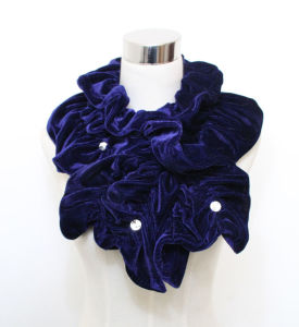 Fashion Cotton Polyester Knitted女性毛皮のスカーフ(YKY4365B-2)
