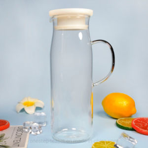 De vidro transparente resistente Chaleira bule de chá com tampa de PP