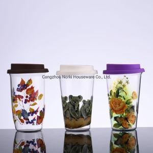Три типа одной стене стеклянный сосуд воды кружка с различными табличка