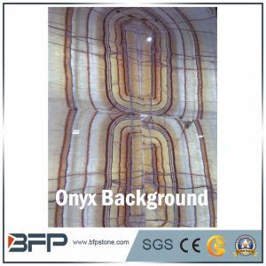 Lastra bianca e gialla di alta qualità del Onyx per la parete della priorità bassa