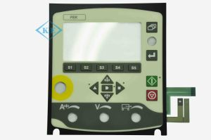 LED Kingbright Rim grabado el Panel de control interruptor de membrana de Caterpillar