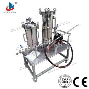 水清浄器ポンプを搭載する産業ステンレス鋼のカスタマイズされたバッグフィルタハウジング