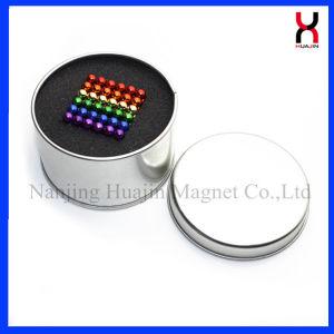 216 PCS 3mm 5mm 6mm Color Plata pequeña bola magnética