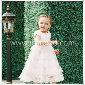 Vendas quente Long Flower Meninas vestir roupas Cabrito Vestido de festa para meninas