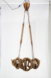 Hanf-Seil-moderner Entwurfs-Ausgangsgebrauch-hängende Lampe (KW0193P-3)