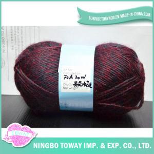 Meias de cores misturadas lado Tricotar tecido acrílico lã
