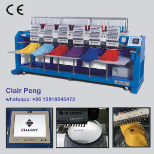 Cap를 위한 다중 Head Industrial T-Shirt Hat Embroidery Machine, T-Shirt 및 Flat Embroidery