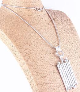 Halsband van de Gelijke van de Rechthoek van de manier de Grote Anti Zilveren Gehamerde