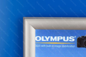 Écran rétroéclairé par LED de la publicité en aluminium
