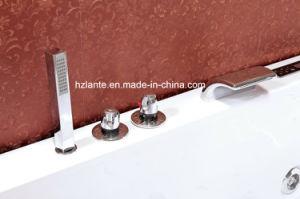 Bañera de masaje con delantal de vidrio templado (TLP-664)