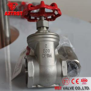 Valvola a saracinesca filettata gambo Non-Aumentante dell'acciaio inossidabile (200PSI)