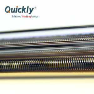 Reflector de ouro do tubo de aquecimento infravermelho de quartzo para secador industrial