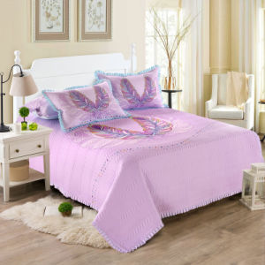 可逆ベッドのキルトのベッドカバーおよびCoverletの綿の薄い慰める人セット