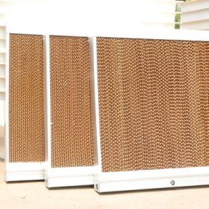 Almofada de resfriamento evaporativo avícola e de gases com efeito de