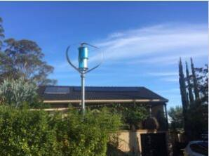 генератор энергии ветра Tubine ветра оси 500W 24V малый вертикальный