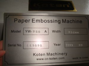 LiftのシートPaper Embossing Machine