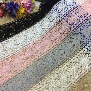 高品質の方法衣服のための化学ミルクヤーンの刺繍のレース